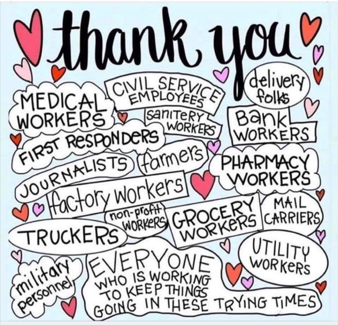 To Say Thank You To Our Frontliners And Everyone Working To Keep Things Going During This Time We Are Offering Our Love And Free Classes Worker Quotes Stress