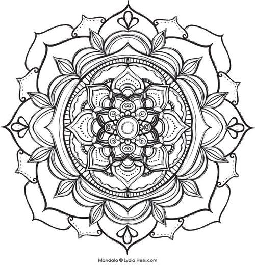 Printable coloring pages of 33 Lotus Flower Mandala