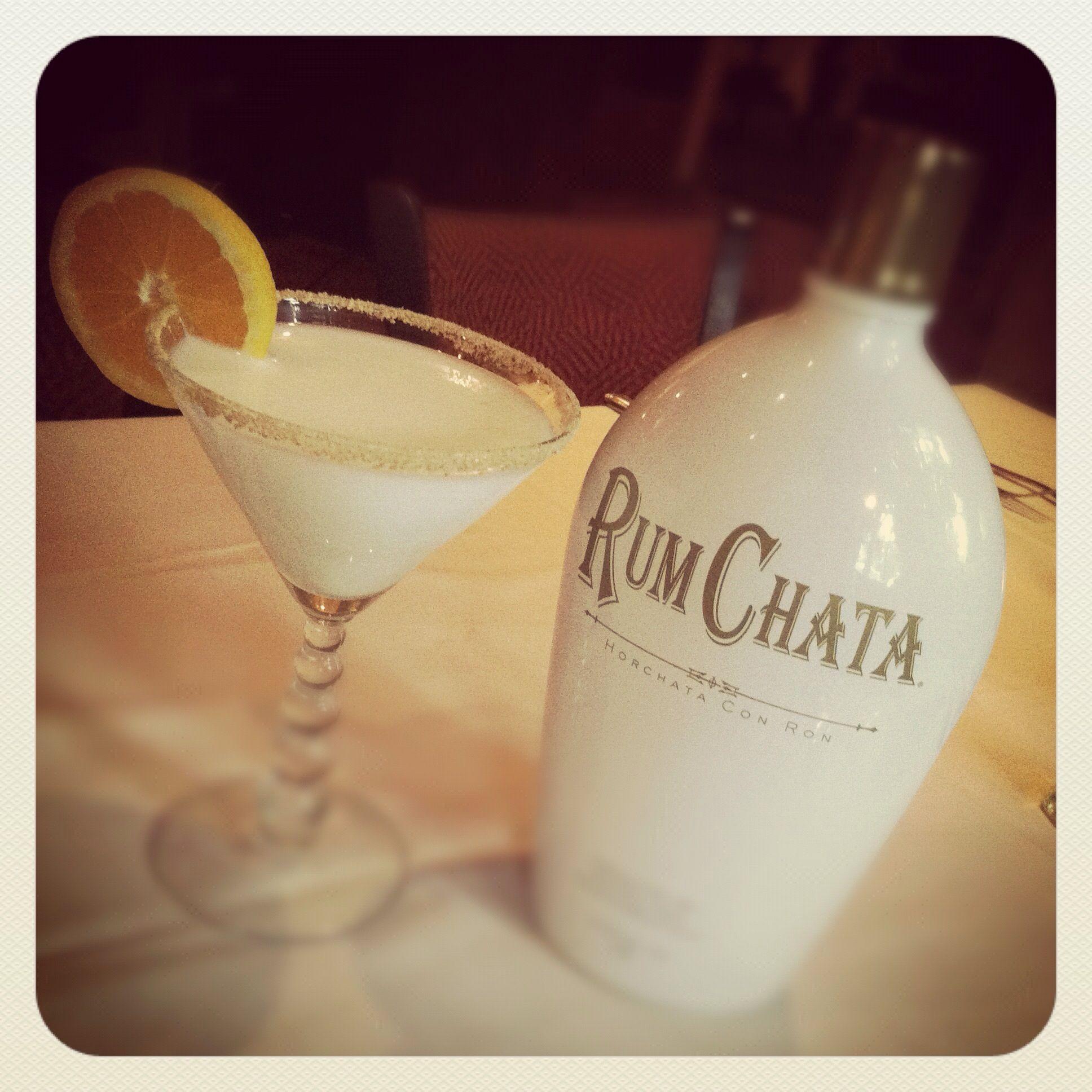 Rum Chata, Vanilla Vodka And Frangelico.