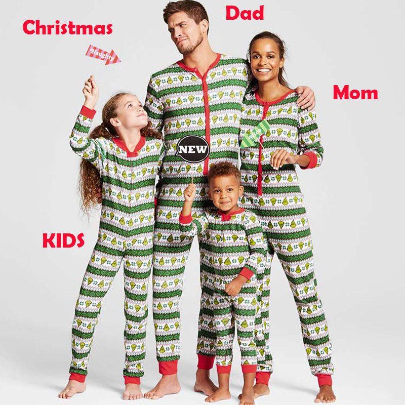 ac1c18dae7 Christmas Family Matching Pajamas Set Women Men Child Kids PJs Sleepwear  Nightwear Hot Sale Xmas Family