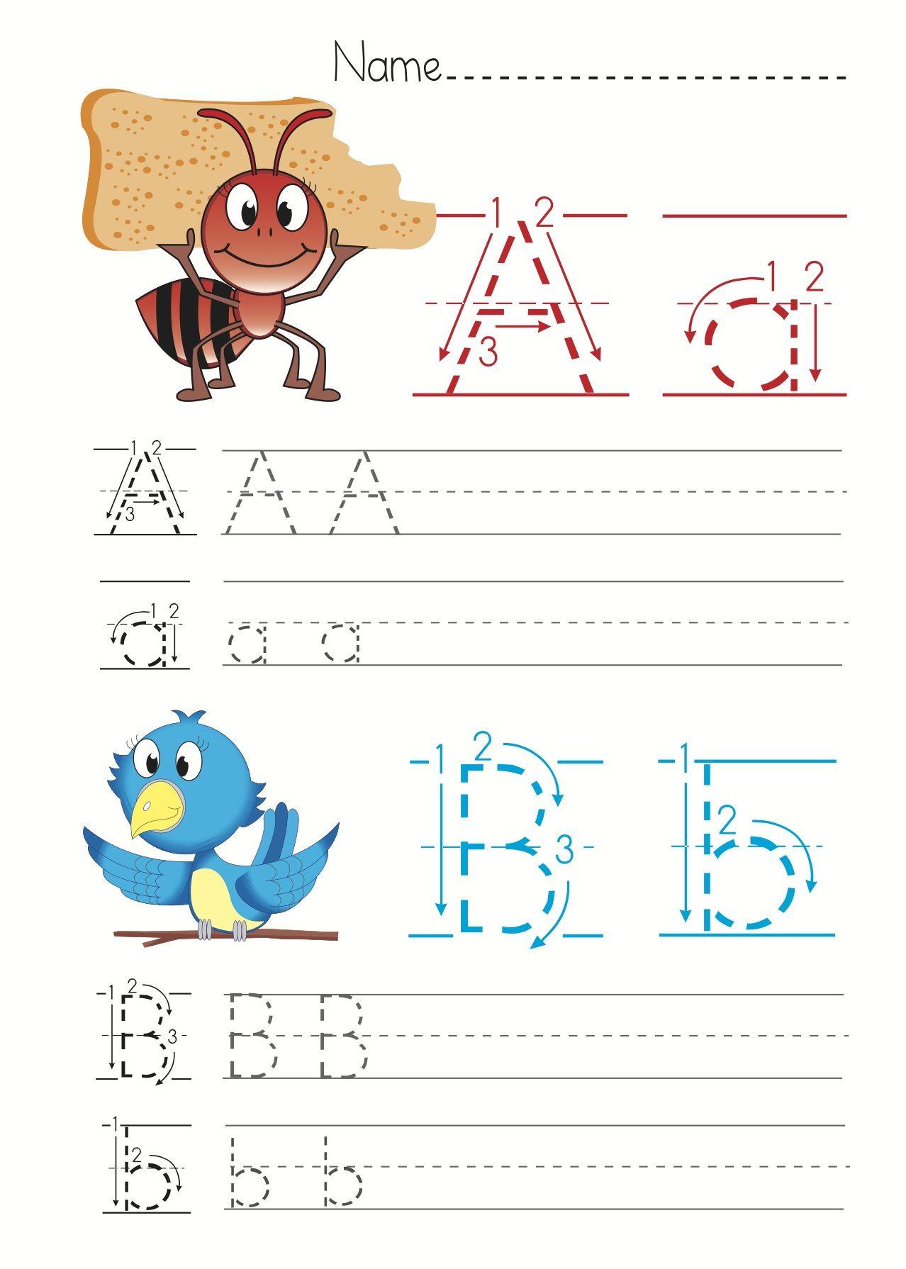Free Alphabet Letter Worksheets Children #educational