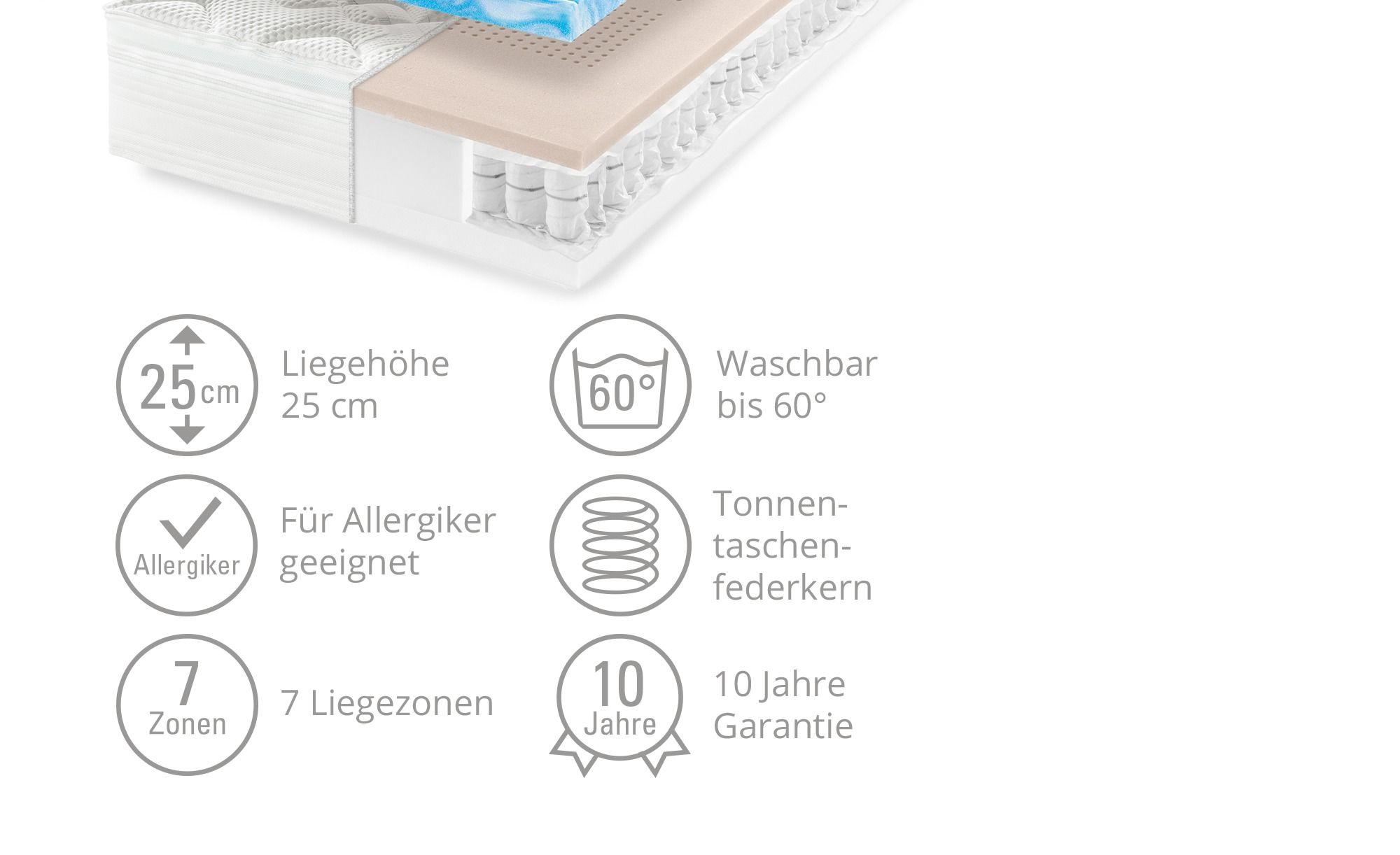 Möve Tonnentaschenfederkern-Matratze Möve Zip Plus T, gefunden bei Möbel Höffner #pflanzenimschlafzimmer