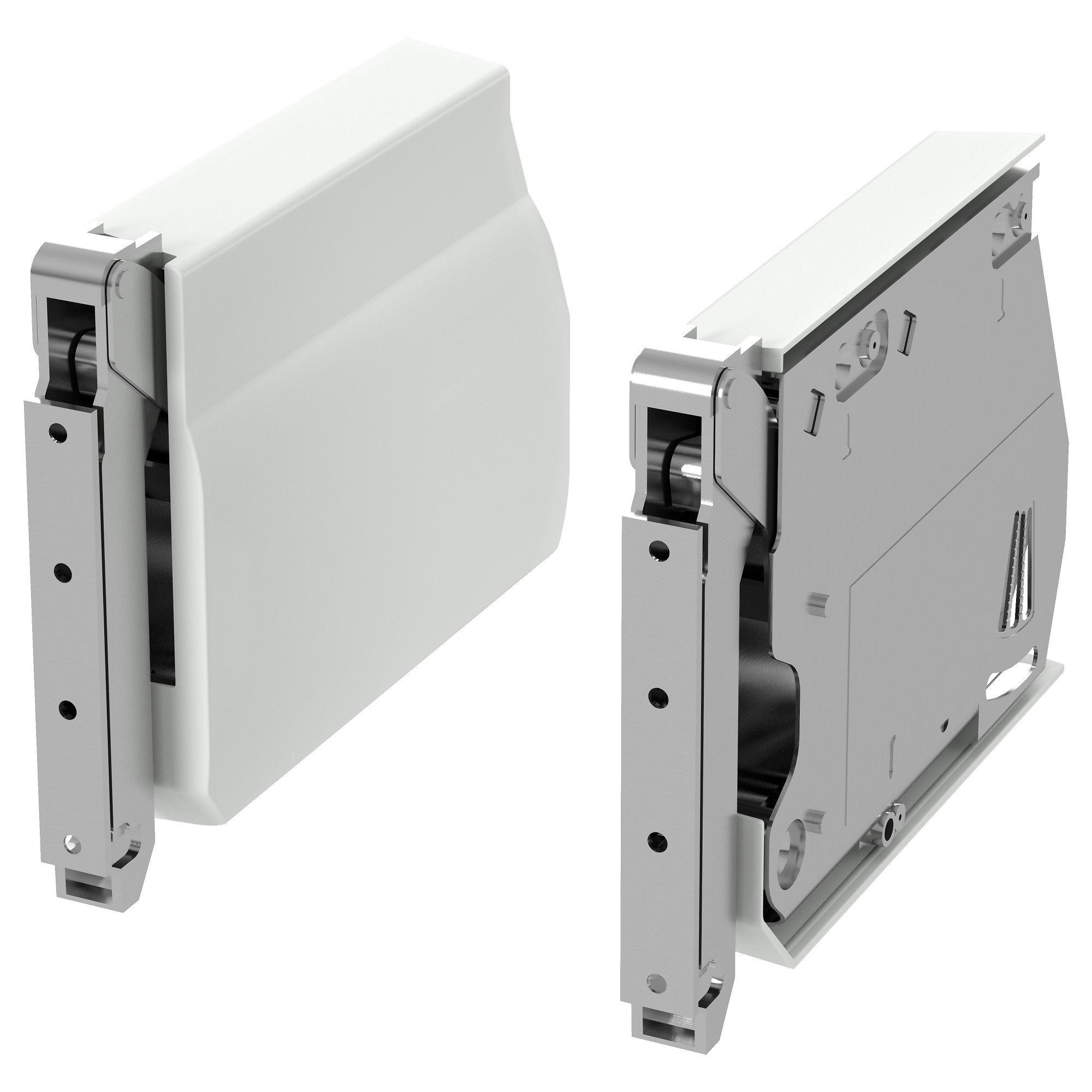 UTRUSTA Large hinge for horizontal door - white (With ...
