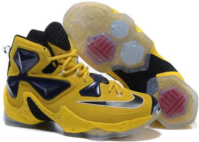 b598ac0021c6 Lebron 13 Shoes Yellow Black