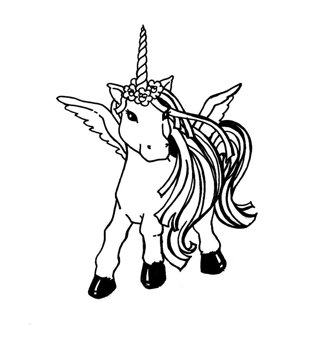 Coloring pages unicorn - Baby Unicorn Coloring Pages Free Printable Unicorn Coloring Pages For Kids