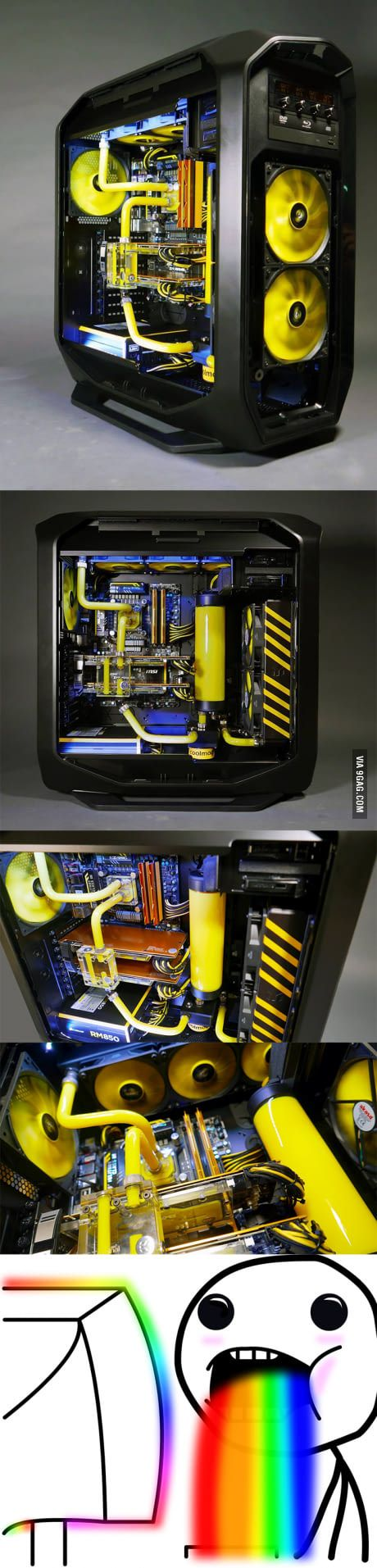 corsair just posted these pictures of their pc build