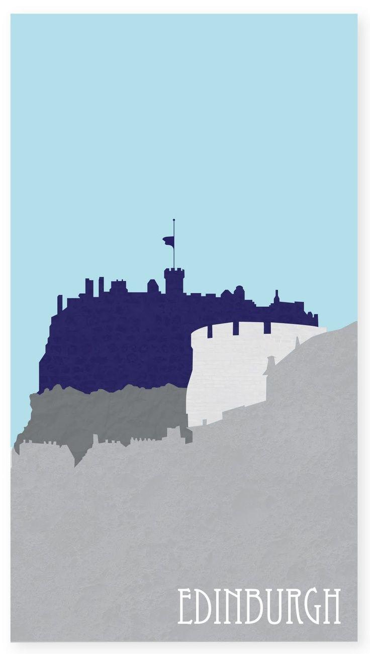 Edinburgh skyline wall sticker wall art com