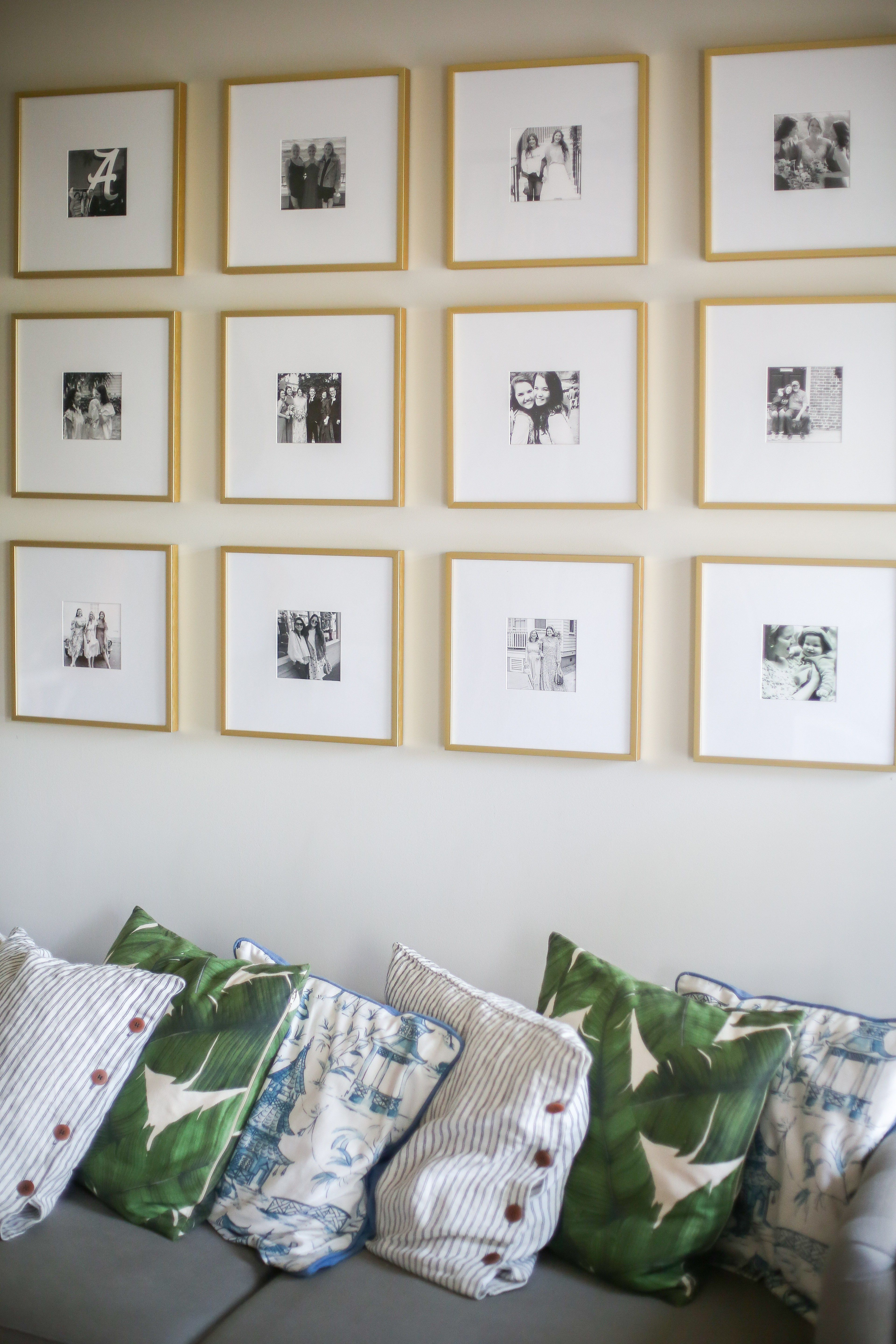 My Gallery Wall With Frame It Easy Gallery Wall Gold Frame