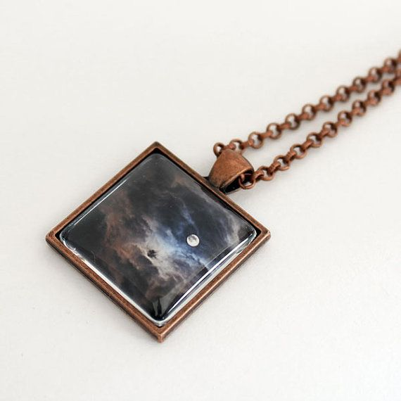 Full Moon Pendant Fine Art Necklace Copper by SCPerkinsPhotography, $28.00