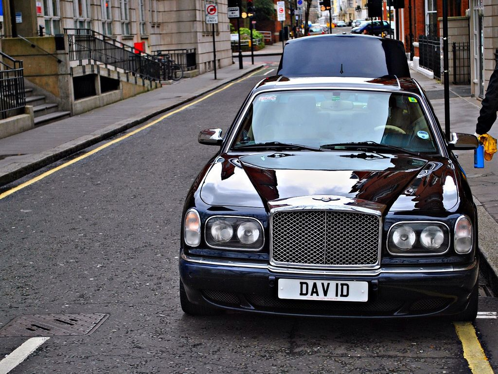 The ultimate david numberplate dav 1d on a bentley arnage david