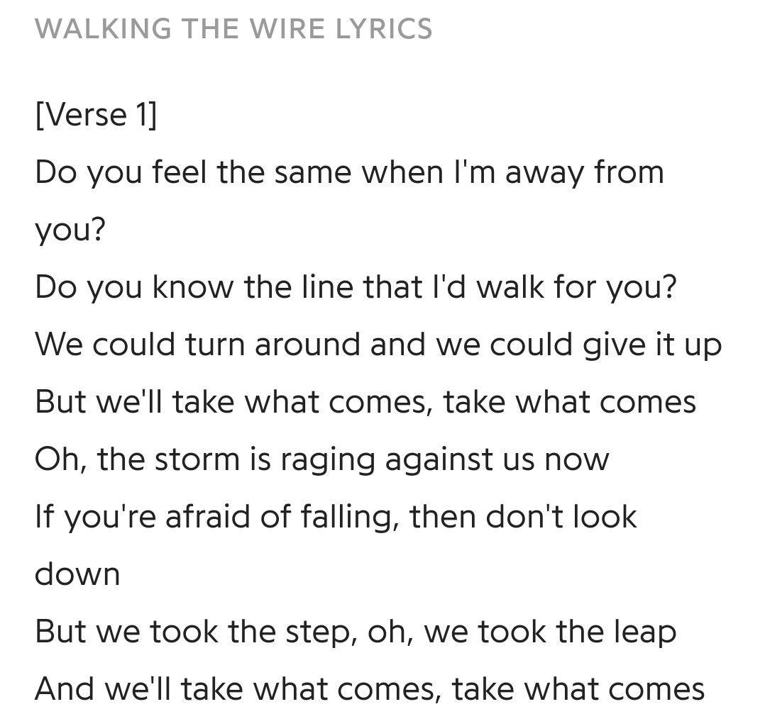 Imagine Dragons Walking The Wire Lyrics