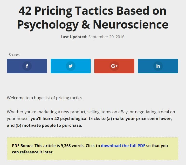 42 Pricing Tricks Based On Psychology Neuroscience With Images