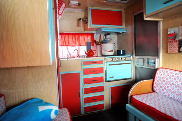 Interior Of Tiny Dancer Our 72 Shasta Compact Vintage Trailer