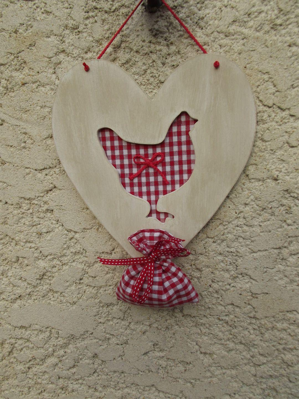 Comment Fabriquer Un Accroche Torchon accroche torchons ou clefs cœur en bois et son sachet de