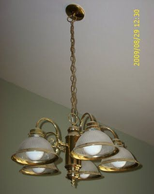 Another How To On Refinishing A Brass Kitchen Light Or Other Brass - Brass kitchen light fixtures