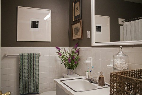 A Simple Inexpensive Bathroom Makeover For Renters Round Bathroom - Inexpensive bathroom mirrors