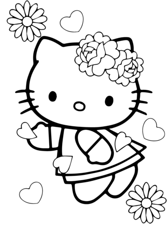 Valentine S Day Hello Kitty Coloring Page Hello Kitty Coloring Valentines Day Coloring Page Kitty Coloring