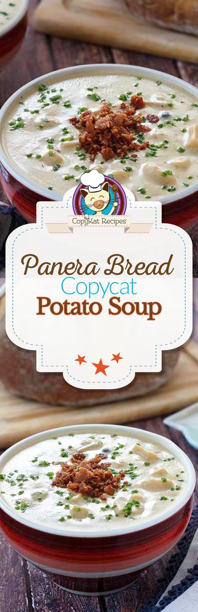 Panera Bread Baked Potato Soup | Recipe | Creamy potato soup ...
