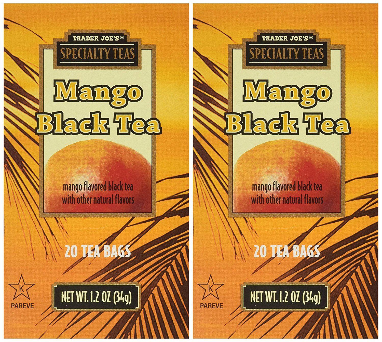 Trader Joe's Mango Black Tea, 20 Tea Bags x 2 Packs