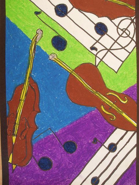 Music Arts 3rd Grade Project Music Art Creative Art Violin Art