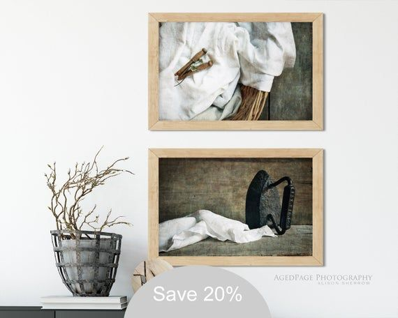 Laundry Room Wall Art Rustic Farmhouse Decor Vintage Country