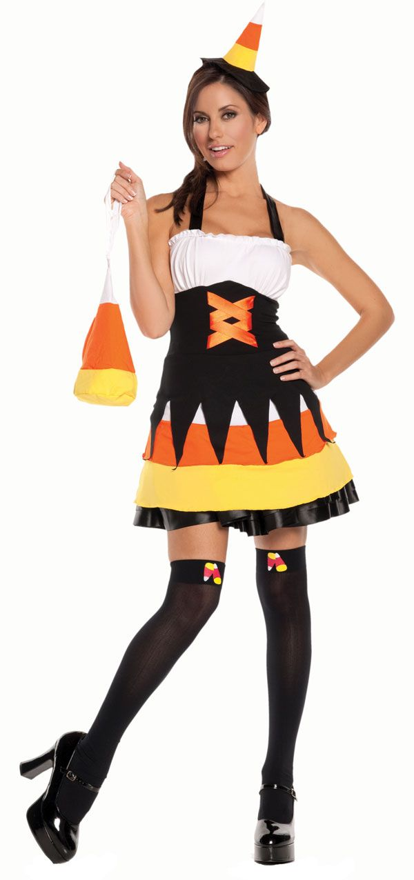 Sexy Candy Corn Costume. Halloween in Candy Corn Hollow Theme ...