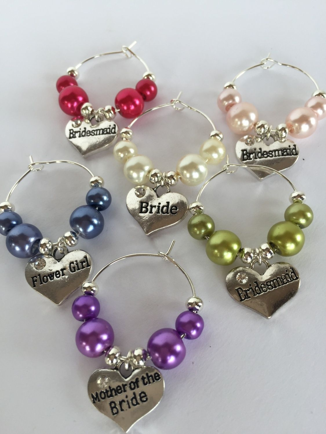 Wedding Wine Charms | Pinterest | Wedding wine glasses, Wine and Glass