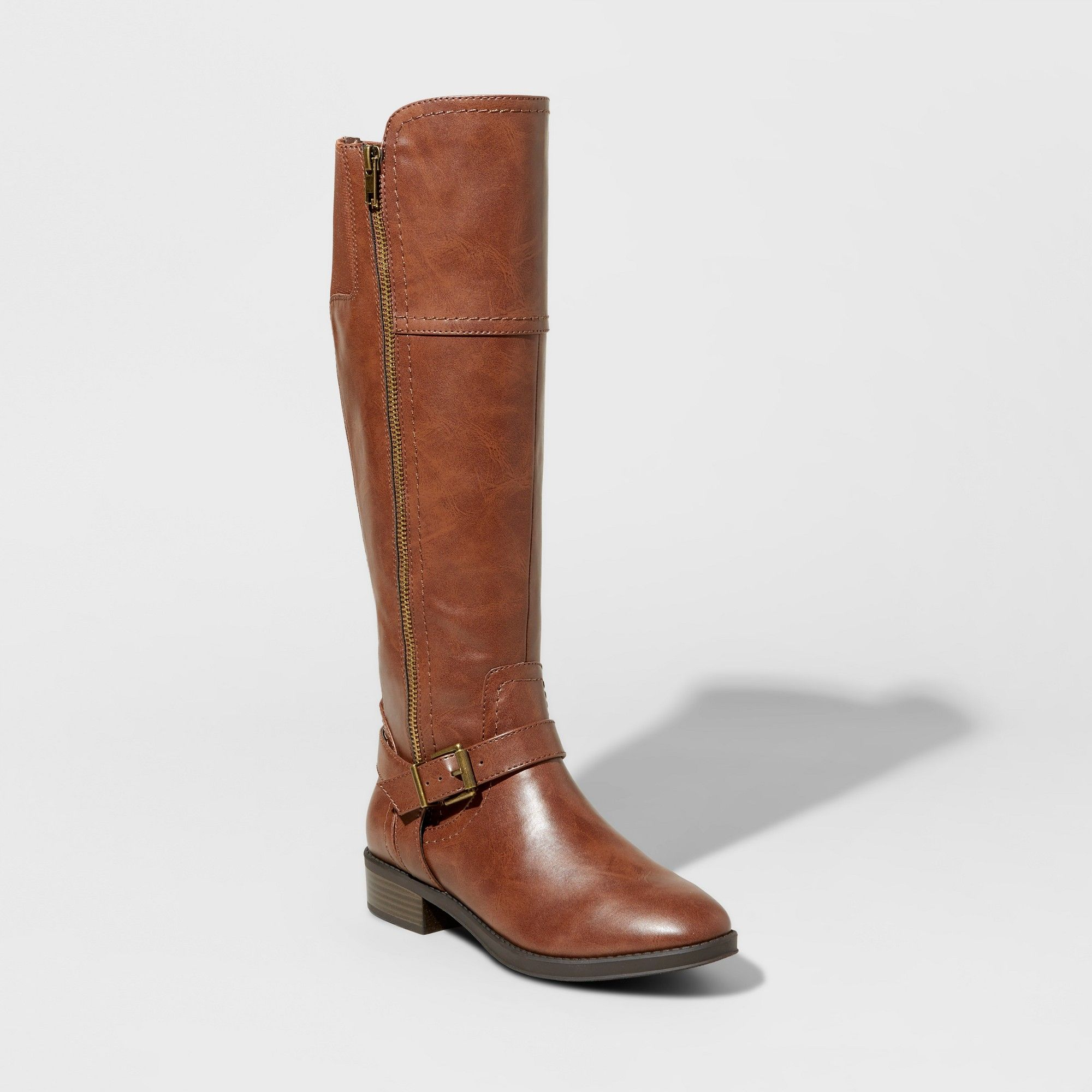 Women's Adaline Tall Riding Boots - Merona Brown 7.5