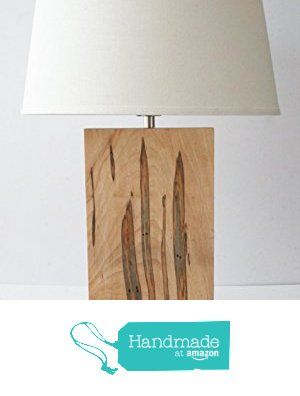 Natural Grain Table Lamp - Wormy Maple (Ambrosia) from Natural Grain Woodworks http://www.amazon.com/dp/B016AYAWKC/ref=hnd_sw_r_pi_dp_efnIwb0Z8JNR0 #handmadeatamazon