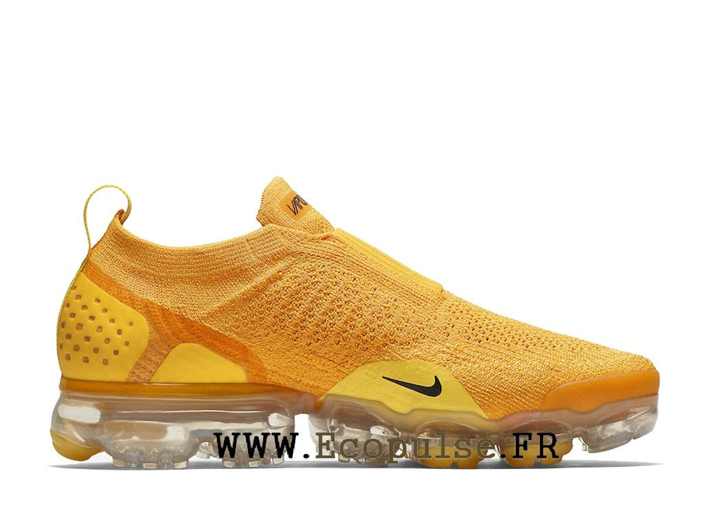 low priced b7742 aa9c2 Nike Vapormax Flyknit 2.0 Chaussures Nike 2018 Pas Cher Pour Homme Jaune  blanc AJ6599 600
