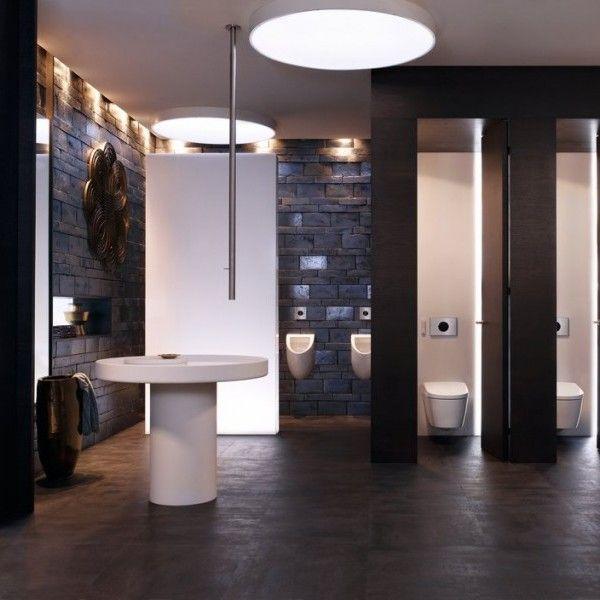 Cuarto de baño público con estilo   Inspiración para baños