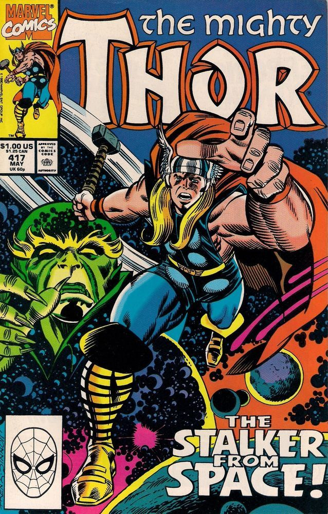 THOR # 417  MARVEL COMICS  1990  vf-