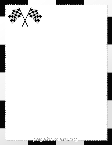 Printable checkered flag border Use the border in Microsoft Word – Creating an Invitation in Word
