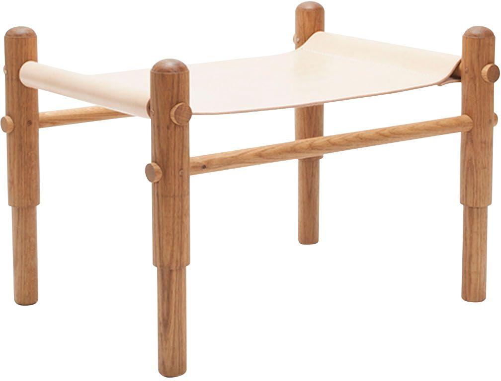 Super Leather Sling Ottoman White Oak Furniture I Love Spiritservingveterans Wood Chair Design Ideas Spiritservingveteransorg