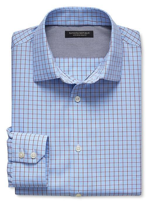 Slim-Fit Non-Iron Micro-Check Shirt