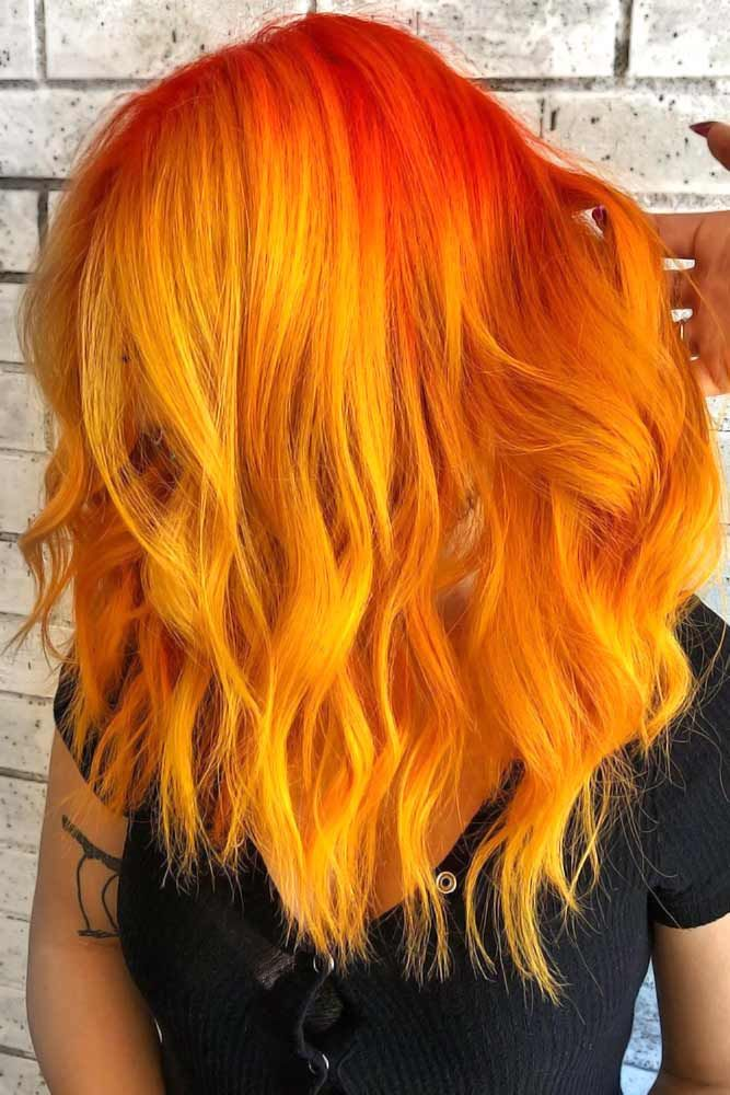 25 Eye Catching Ideas Of Pulling Of Orange Hair Today Hair Color Orange Orange Ombre Hair Hair Styles