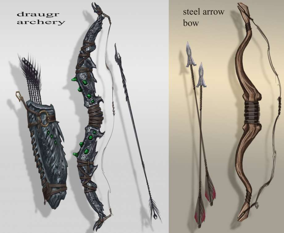 Falmer Bow Concept Art From The Elder Scrolls V Skyrim By Adam