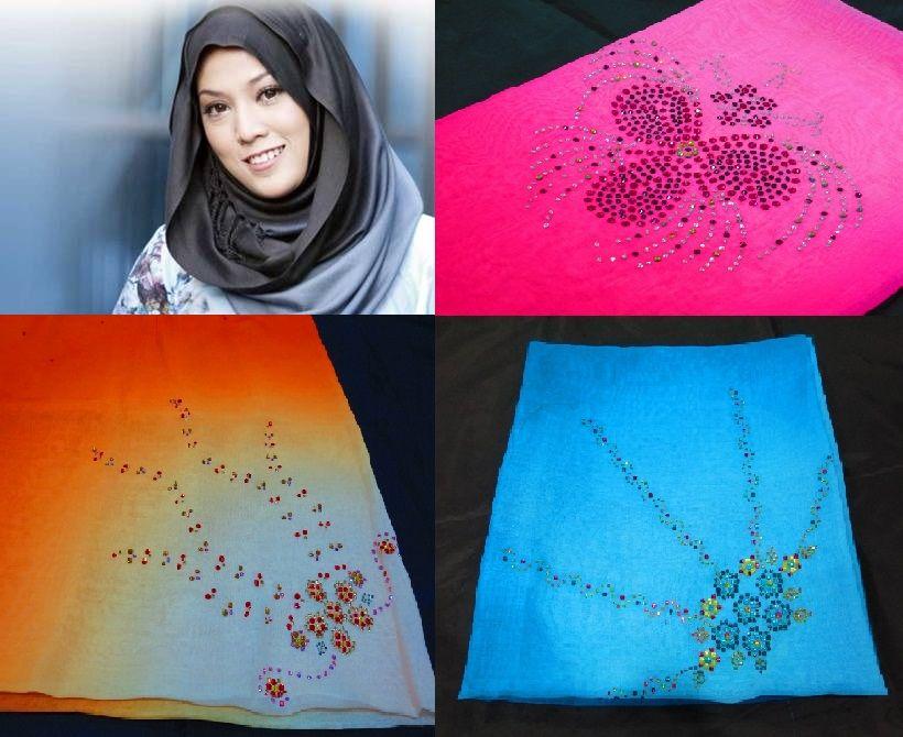 #Hijab Tudung Bawal 2 Tone Terbaru, Tudung Bawal Kristal ala Aidijuma Norjuma