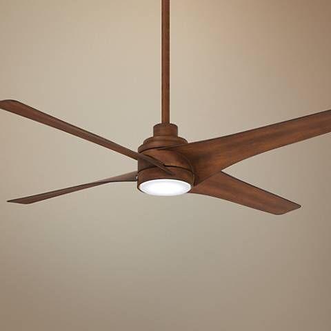 56 Minka Aire Swept Distressed Koa Led Ceiling Fan 55v58 Lamps Plus Led Ceiling Fan Ceiling Fan Ceiling Fan With Light