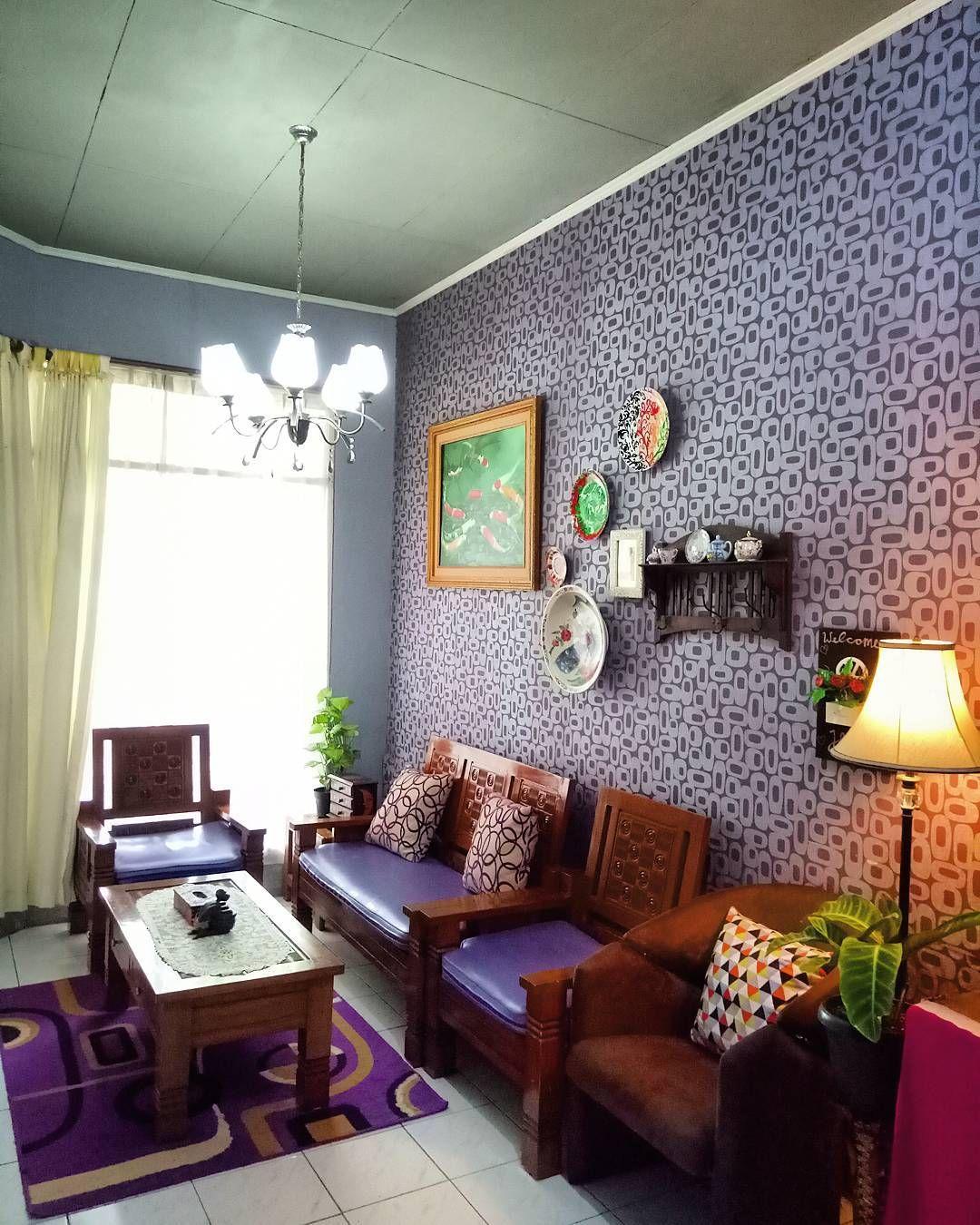 Wallpaper Ruang Tamu Minimalis Home Decor Di 2019 Ruang