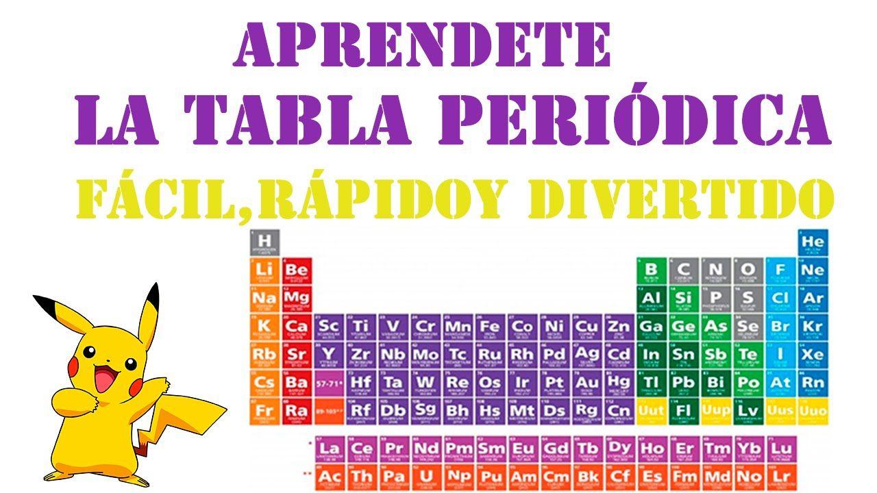 Aprender la tabla peridica fcil rpido y divertido con mnemotecnia aprender la tabla peridica fcil rpido y divertido con mnemotecnia youtube urtaz Images