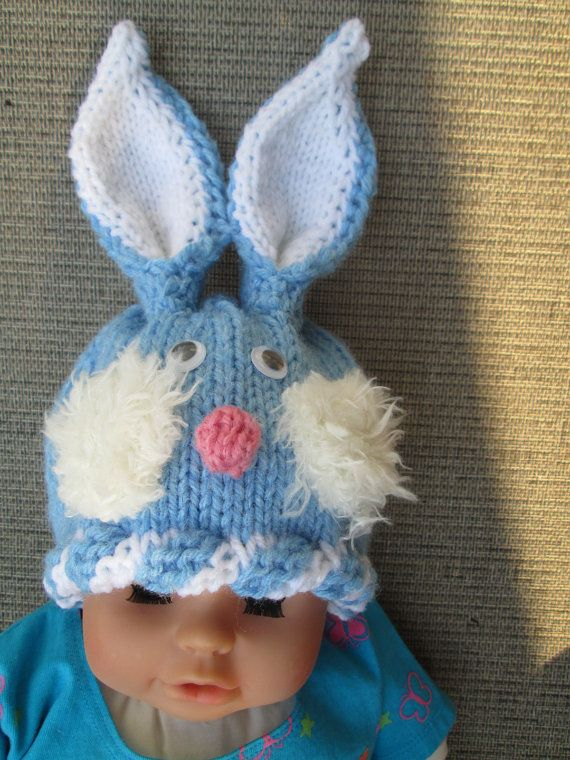 Newborn crochet baby animal hats Baby Bunny hat by Ritaknitsall ...