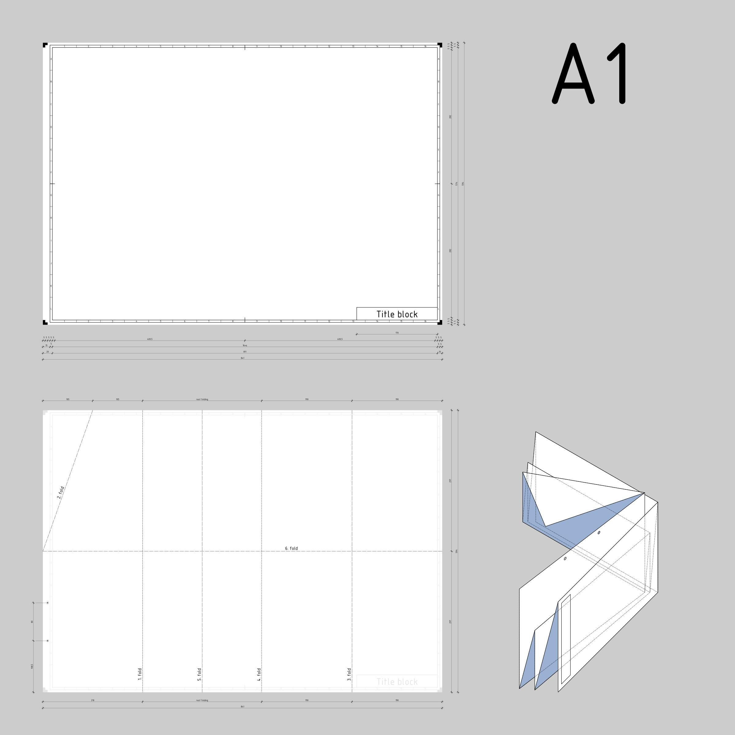 A A1 Din Din A1 Technical Drawing Format And Folding Folds Png Icons