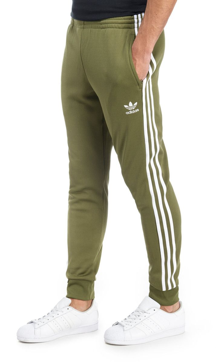 29% Off adidas Originals Superstar Poly Track Pants - Olive Green - Mens