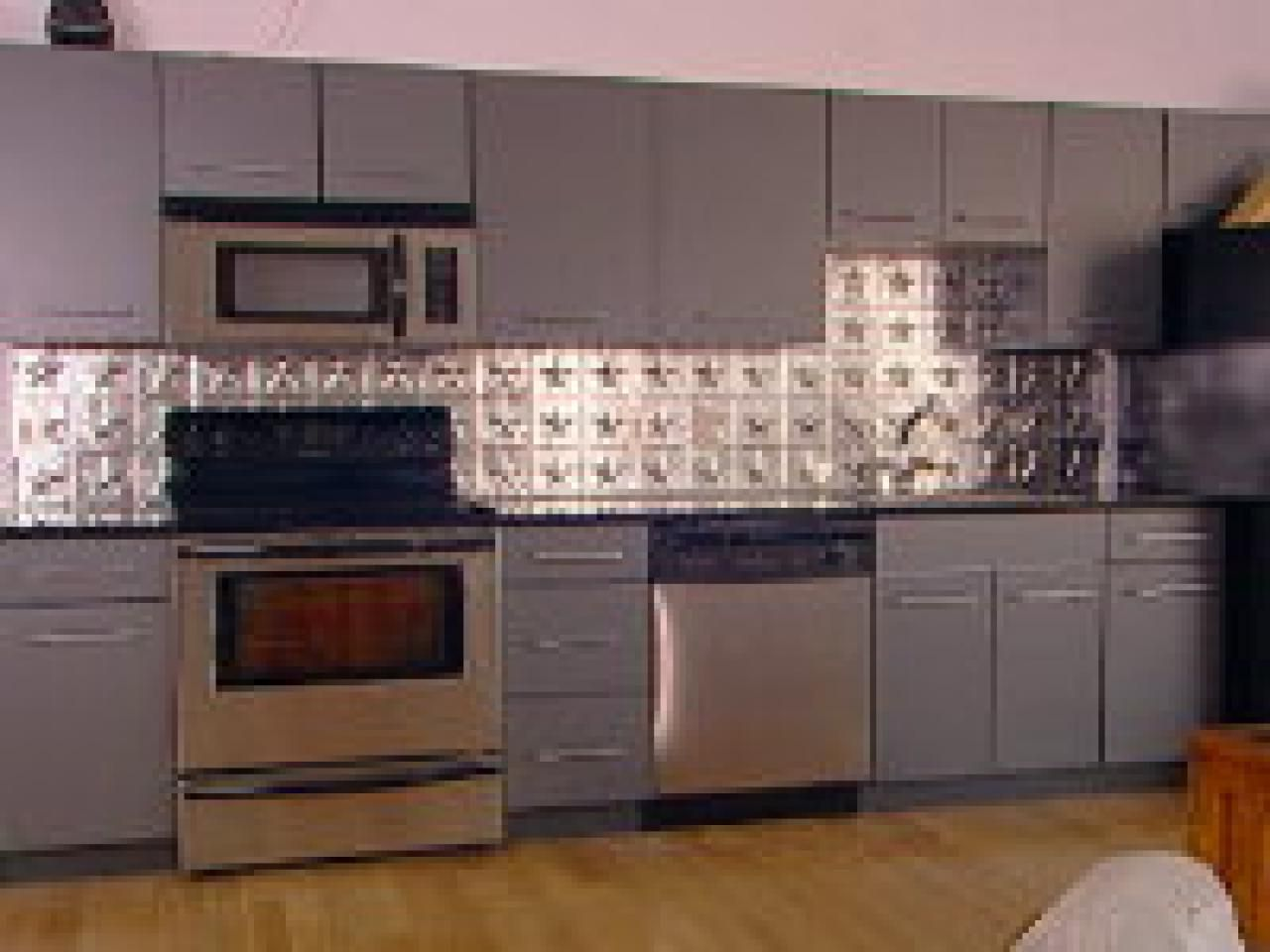How To Create A Tin Tile Backsplash  Tin Tile Backsplash Hgtv Mesmerizing Tin Backsplash For Kitchen Decorating Inspiration