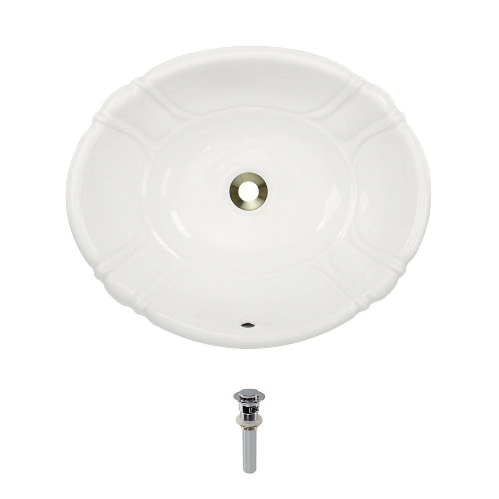 Mr Direct Dual Mount Porcelain Bathroom Sink In Bisque With Pop Up Drain In Chrome Sink Porcelain Porcelain Sink