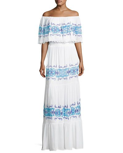 442713aba42f TVSCC Chelsea   Theodore Off-the-Shoulder Ruffle-Trim Maxi Dress ...