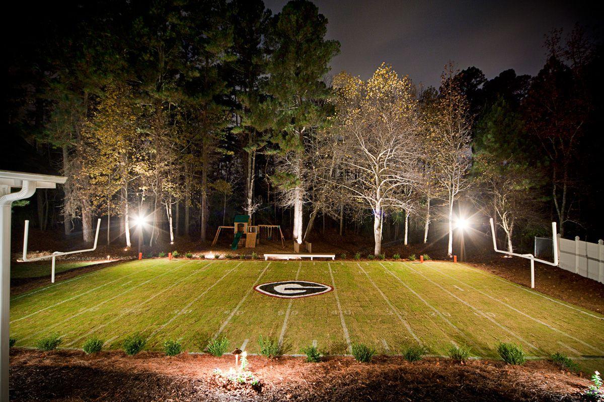 dream backyard outdoor lighting replica sanford stadium