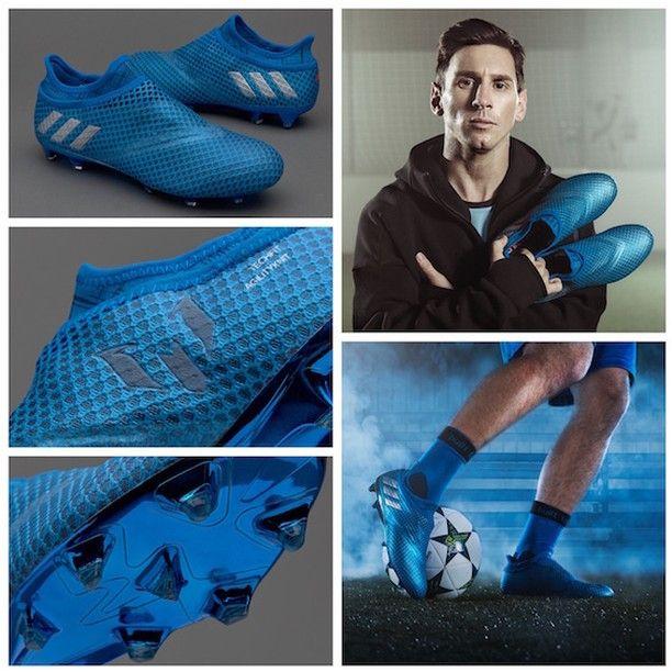 the latest dd8f8 ef3a5 adidas Messi 16 Pureagility FG AG - Shock Blue Silver Metallic Core Black