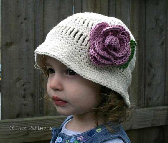 Crochet hat pattern vintage crochet floppy summer hat pattern with ...
